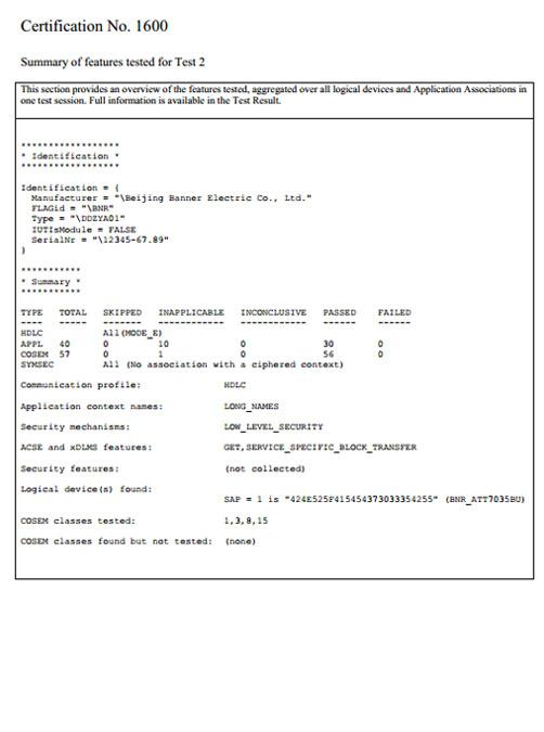 Certificate No. 1600