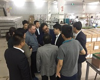 Russia customers visit our company